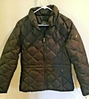 Guess Womens Black Quilted Down Puffer Jacket Winter Coat Size M  cr2