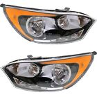 Headlight Set For 2012-2017 Kia Rio Hatchback Left and Right With Bulb 2Pc