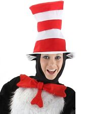 Dr. Seuss CAT IN THE HAT, ADULT HAT + BOW TIE Fast FREE Shipping! Suess Sues