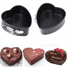 Non-Stick Heart Shape Mold Spring Form Cake Oven Tray Baking Pan Bakeware Mould