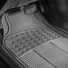 3PC Universal Floor Mats for Auto Car SUV Van All Weather Heavy Duty Gray Set