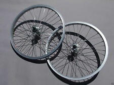 "Old School Racing BMX Bike Silver 20"" Araya Wheel Set With Jou YU Hubs & Spokes"