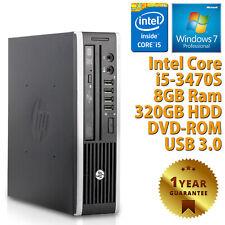 PC MINI COMPUTER DESKTOP RICONDIZIONATO HP QUAD CORE i5-3470S 8GB 320GB WIN 7