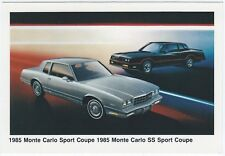 1985 Chevrolet MONTE CARLO SS And SPORT COUPE Dealer NOS Promo Postcard UNUSED ^