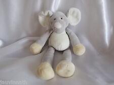 Doudou éléphant gris, blanc, jaune, Gund