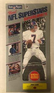 NFL Superstars Super Silhouette John Elway - Denver Broncos - Vintage Portrait