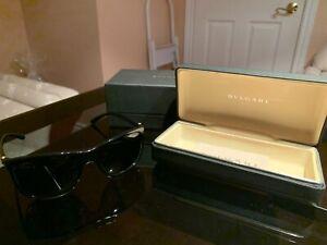 Bvlgari black and gold sunglasses men