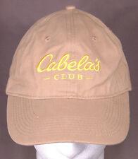 Cabela's Club Hat,Baseball Cap-Tan-Adjustable Strap-Yellow Logo-Hunting Fishing