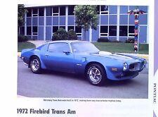 1972 Pontiac Firebird Trans Am 455 ci H.O. info/specs/photo/price 11x8