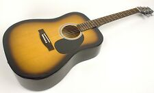 Acoustic Guitar Steel String 6-String Dreadnaught Easy Playing Case & Strap