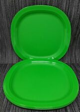 "Tupperware Large Microwave Reheatable Plates Dinner Plates 9.5"" Set 4 New"