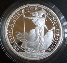2012 Royal Comme neuf 1 oz (environ 28.35 g) .958 Silver Proof Britannia £ 2 Coffret 25th anniversaire + COA