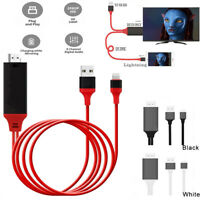For iPhone 7 8 Plus X 11 12 Pro Max Mini iPad to HDMI TV AV 1080P Adapter Cable