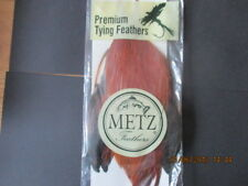 metz grade 3 brown neck cape feathers flytying materials