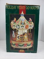 Maisto Christmas Holiday Around The Carousel Musical Animated Merry Go Round