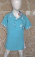 Polo bleu turquoise neuf marque US MARSHALL  taille 10 ans (M enfant) (dy)