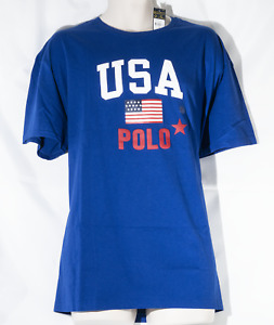 Polo Ralph Lauren Men's Blue T-Shirt Size XL, NWT