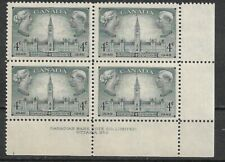 Canada 1948 Responsible government 4¢ SC 277 Plate Block 2 LR MNH