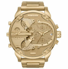 2018 NEW Diesel Mr. Daddy 2.0 All Gold Stainless Steel Chrono Men's Watch DZ7399