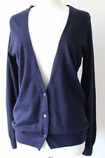 UNIQLO +J JIL SANDER  LADIES NAVY SOFT 100% CASHMERE CARDIGAN SIZE M