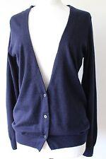 UNIQLO + J Jil Sander Femme Bleu Marine Doux 100% Cashmere cardigan taille M