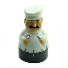 60 Minute Timer Countdown Reminder Chef Shape Furniture Supplies Kitchen Newest