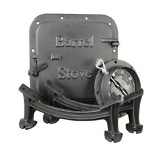 Cast Iron Barrel Stove Kit Convert 30/55 Gal Drum into Wood Stove Heating Fire