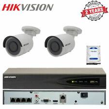 Hikvision 4CH NVR 1TB HDD 2x 4MP Mini Bullet Outdoor Surveillance CCTV Cameras