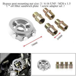 Auto Oil Cooler Filter Sandwich Plate Adapter AN10 M20x1.5/22/1.5/M18x1.5/3/4-16
