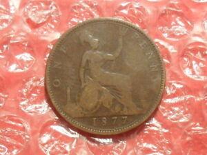 1877 Victoria penny.