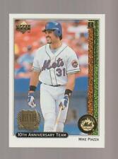 1998 Upper Deck 10th Anniversary #XI Mike Piazza card, New York Mets HOF