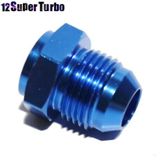 New Brand -8AN Male to Weld-On Bung 0 Degree Hose End Fitting Adapter Flare Blue