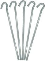 10 x Galvanised Metal Tent Pegs For Camping Gazebo Ground Sheet New
