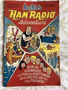 Archie's Ham Radio Adventure Morse Code Promo Comic, 1986 VTG