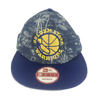 Golden State Warriors New Era Snapback Hat Cap Blue Palm Trees Nba Basketball