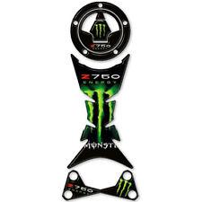 Kit réservoir bouchon de carburant Fork Head Stickers resined Vert pour Kawasaki Z 750 2007-201