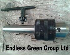 MT1 13mm Drill Chuck for wood & metal turning lathe & pillar drill MORSE TAPER 1