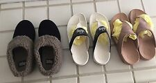 Authentic Fit Flop Sandals & Fitflop Bedroom Slippers/3 Pairs. Size 8.
