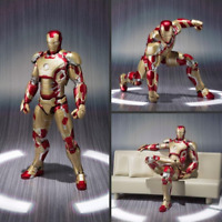 S.H.Figuarts SHF IRON MAN 3 MARK 43 MK42 Action Figure Model Statue Toy w/ Sofa