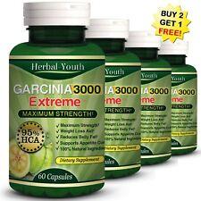 3000mg GARCINIA CAMBOGIA 95%HCA Capsules Suppress Fat Burn Slim Diet Weight Loss
