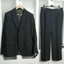 "Willerby Ritex Imperial Grey Wool Blend Suit Jacket 43"" Trousers W32 L32 Fly Zip"