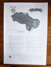 MG TF (1955) - Old Leaflet Including Specification - Giclée Print Reproduction