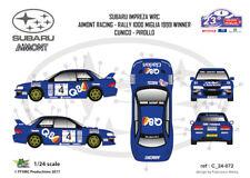 [FFSMC Productions] Decals 1/24 Subaru Impreza WRC Aimont 1000 Miglia 99 Winner
