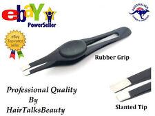 New Professional Eyebrow Tweezers Slanted Stainless Steel Plucker Puller Tool