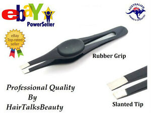 Professional Eyebrow Tweezers Slanted Stainless Steel Hair Plucker Puller Tool