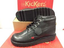 Kickers Kick Hi W Core Black Leather Women's Shoes Ankle Boots Size UK 8 EUR 42