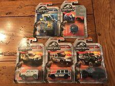 2018 Matchbox JURASSIC WORLD Park Fallen Kingdom Set of all 5 FIVE Vehicles