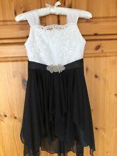 Rare Editions Gr. 146 12 Jahre festliches Kleid schwarz/weiß mit Stickerei