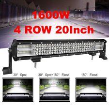 4 ROW 20INCH 1600W LED WORK LIGHT BAR SPOT FLOOD COMBO 4WD Truck Driving lamp
