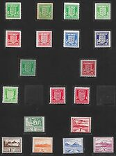 Guernsey&Jersey stamps 1941 Collection of 19 stamps/SHADES   MLH  VF